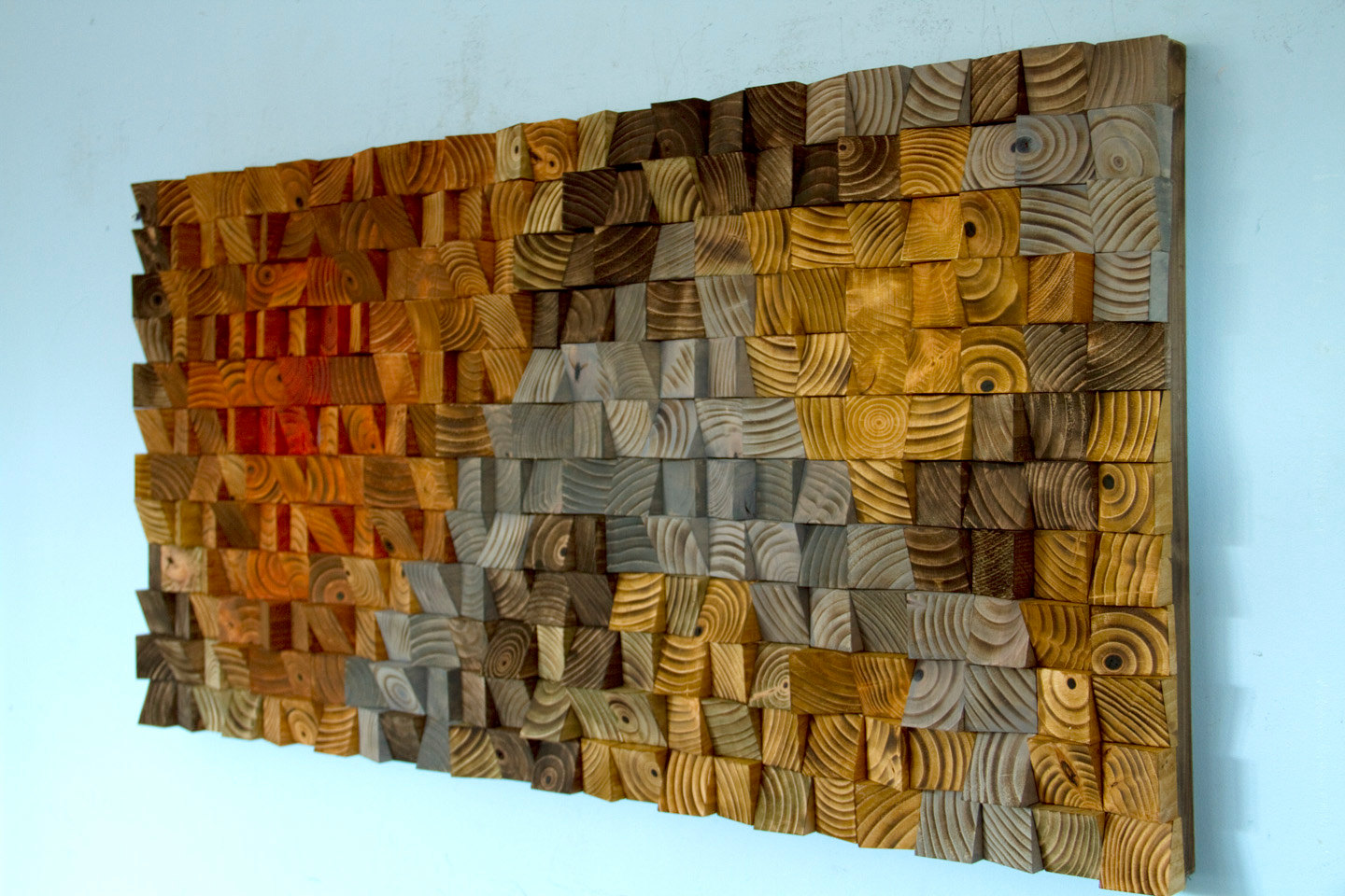 Large rustic art wood wall sculpture abstract painting for Wall artwork paintings