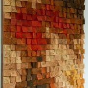 Large Rustic wood wall Art, wood wall sculpture, abstract painting on wood