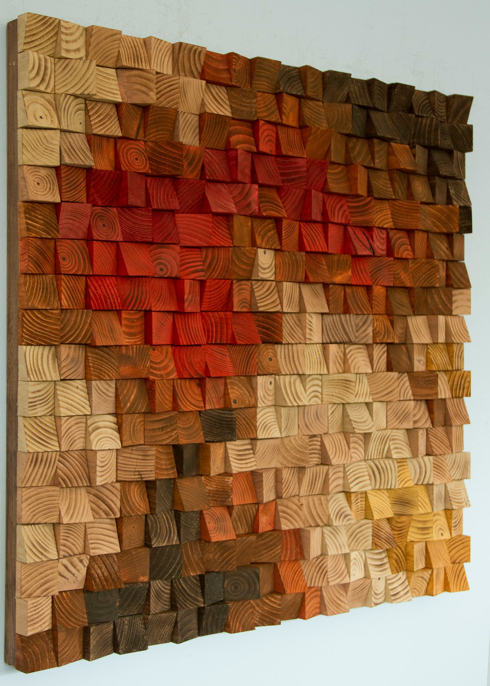 Large rustic wood wall art wood wall sculpture abstract - Pintura rustica en paredes ...
