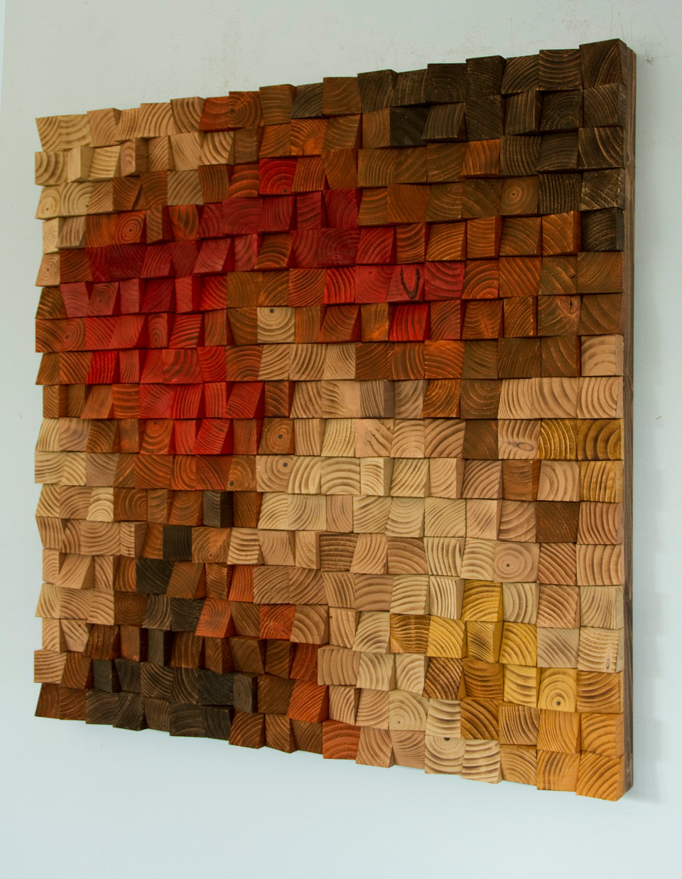 Large rustic wood wall art wood wall sculpture abstract painting on wood art glamour - Rustic wall plaques ...