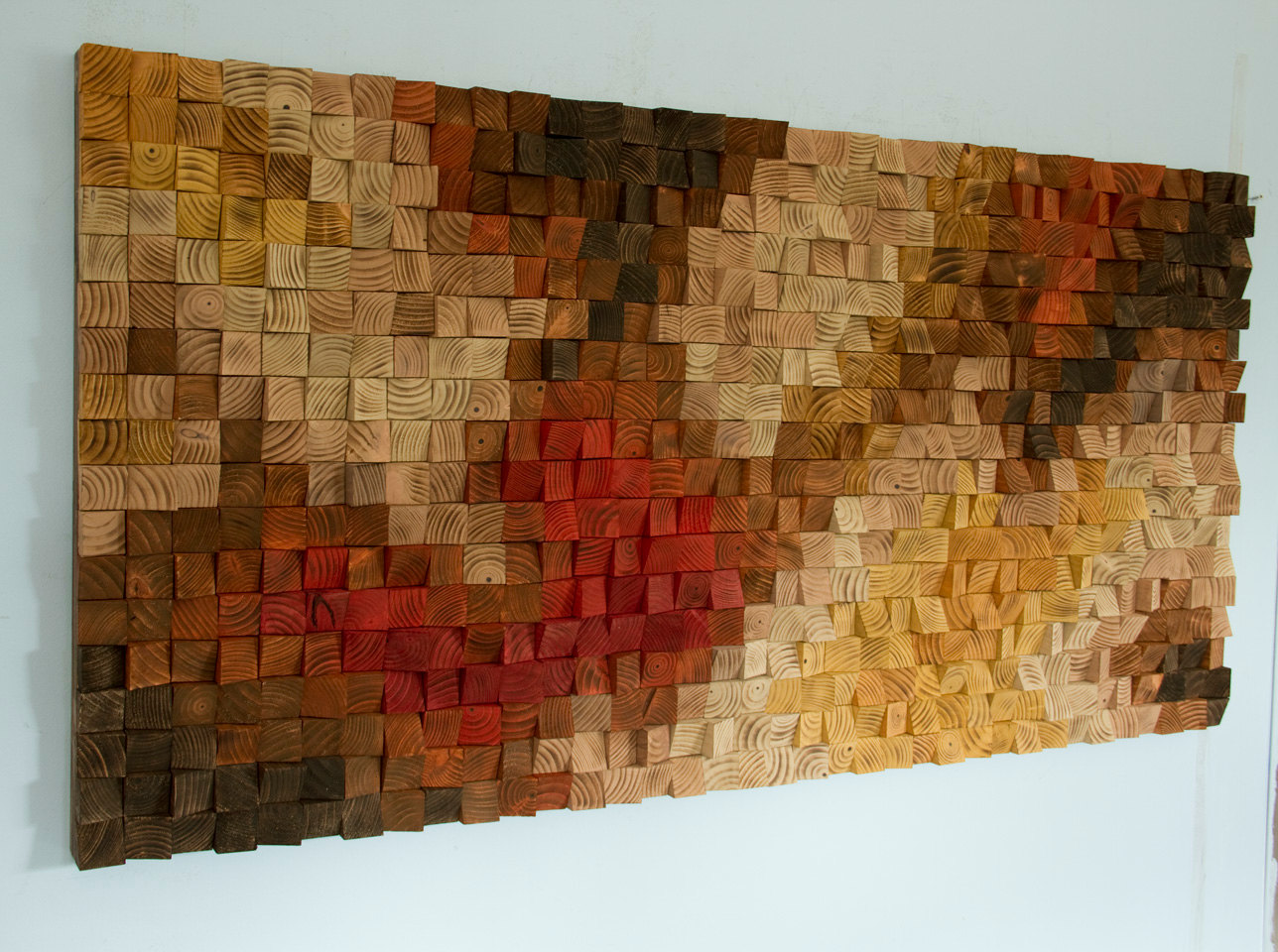 Large rustic wood wall art wood wall sculpture abstract for Mural on wood