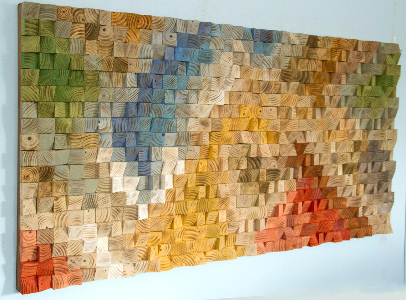Large Wood Wall Art Sale 2017 Colour Trends Geometric