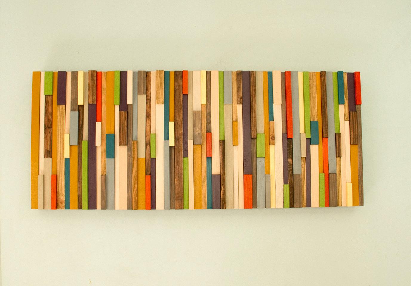 Mid Century Wall Art Reclaimed Wood Art Sculpture Sale