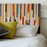"Modern Headboard Wood Wall Art Sculpture, king headboard 30"" x 70"""