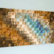 Modern Wood wall Art, wood mosaic, geometric art