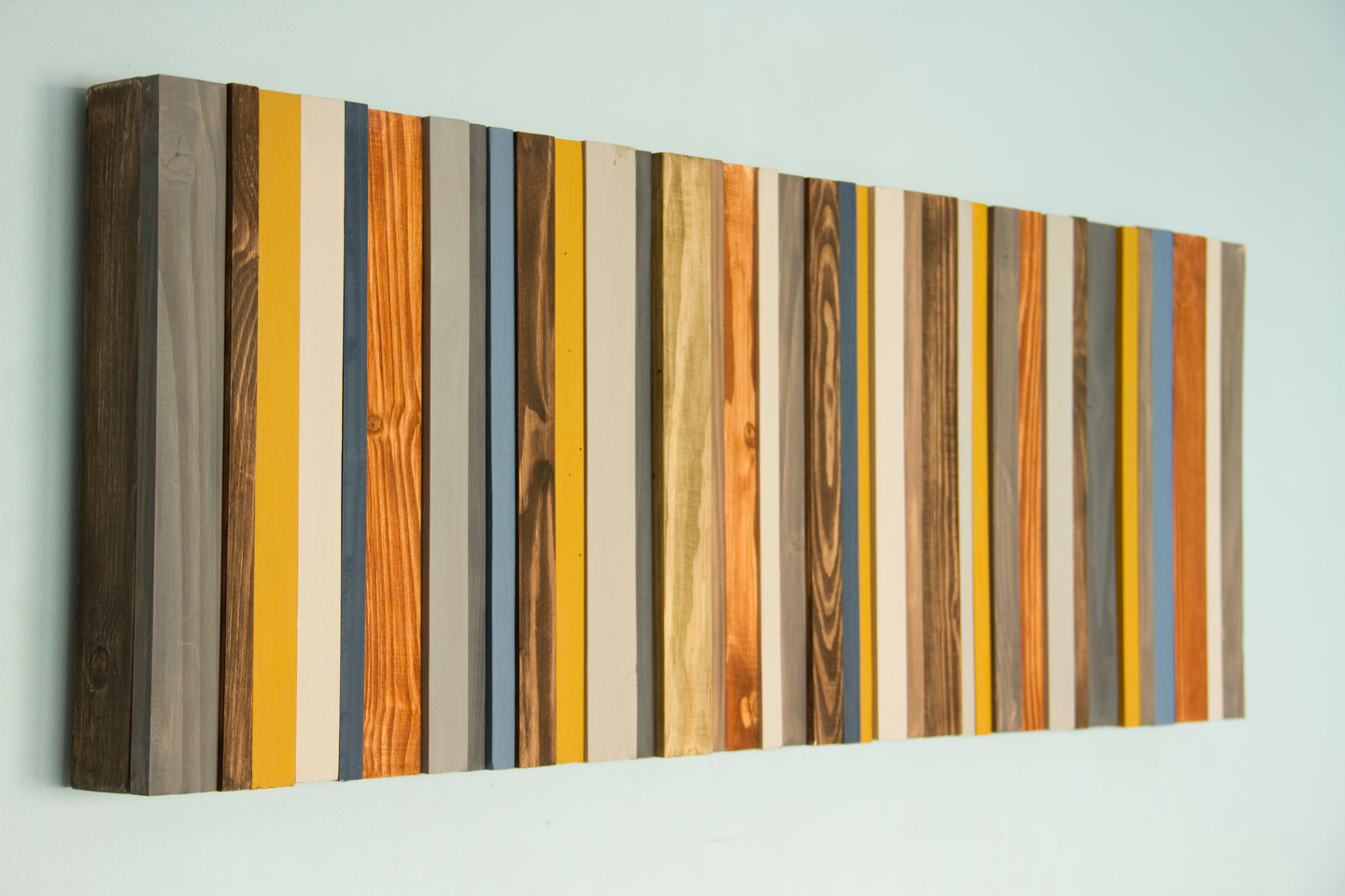Reclaimed wood art modern office decor reclaimed wood wall art sculpture costomize art glamour - Wood panel artwork ...