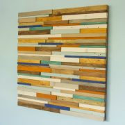 Reclaimed Wood wall Art, Industrial wall Art rustic wood art sculpture