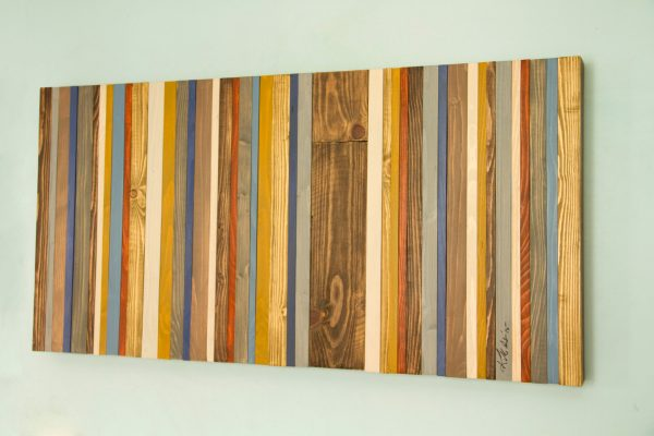 Reclaimed Wood Wall Art - Rustic Wood Decor, Modern wood sculpture, Customized gift