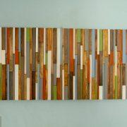 "Rustic Wall Art, reclaimed wood art 20"" x 40"", earth tones"