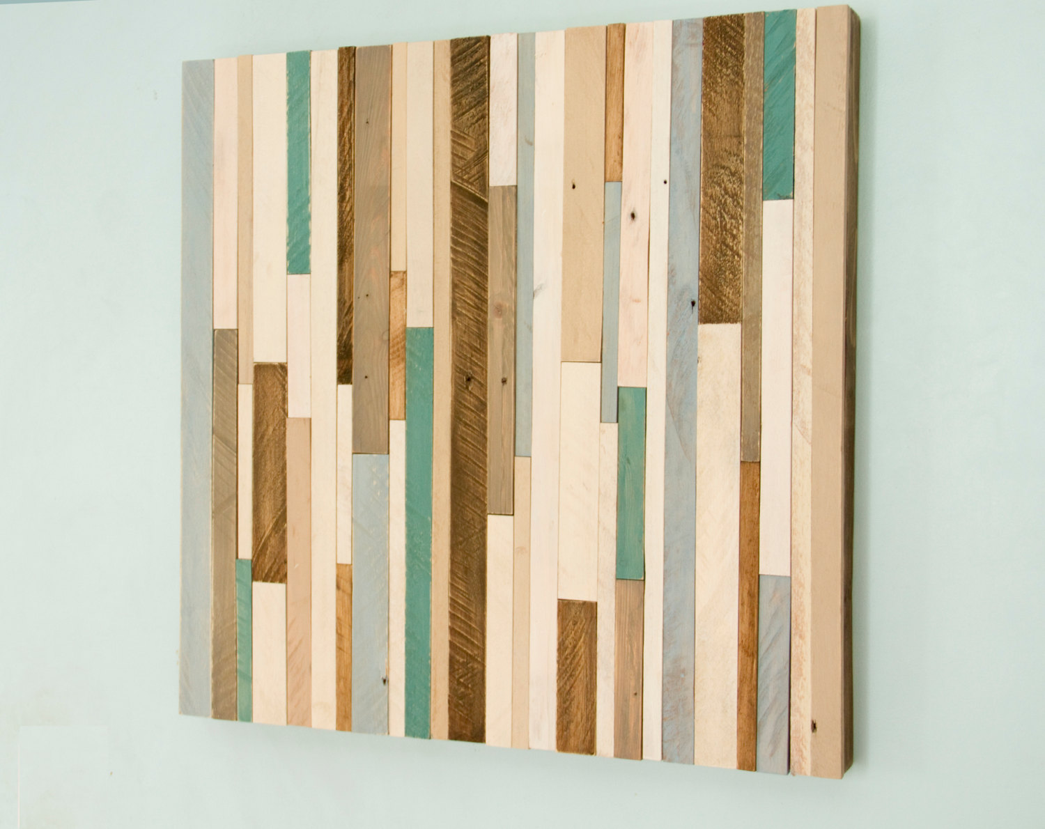 Rustic wood wall art reclaimed wood decor 20 x 20 reclaimed wood wall sculpture art glamour - Wooden wall decoration ...