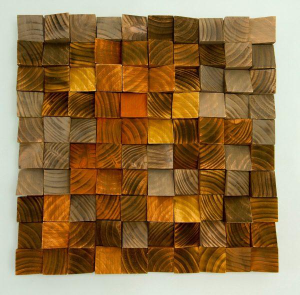 "Wood Wall Art, geometric wood art, industrial decor, ""Factory Rust"""