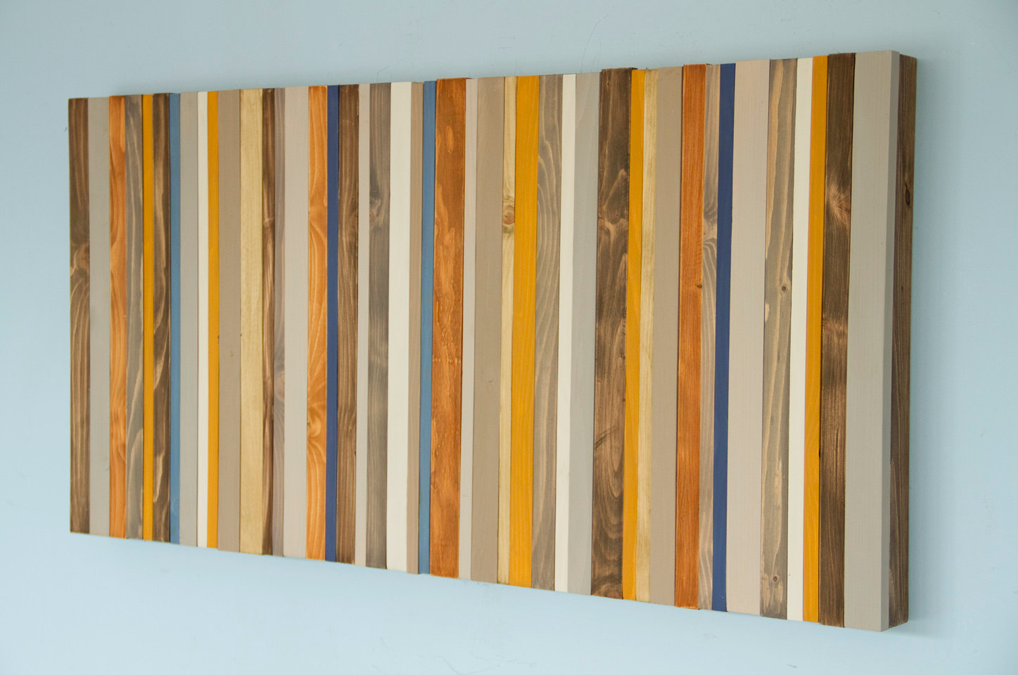 "Wood Wall Art, Modern wood decor, reclaimed wood sculpture, 20"" x 40"""