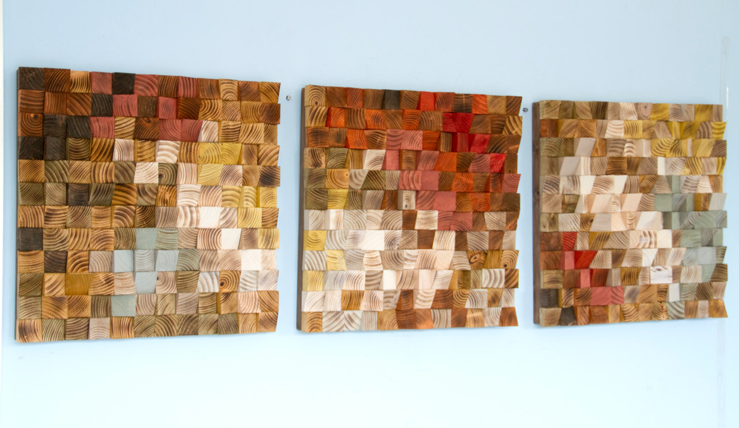 Reclaimed Wood Art Wood Wall Art Reclaimed Wood Art The Earth Set Of 3 Art Glamour