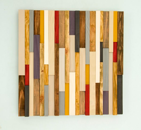Wood Wall Art, reclaimed wood decor, 3D, Black Friday 20 x 20
