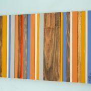 Wood Wall Art - Reclaimed Wood Decor, Modern wood sculpture, Customize