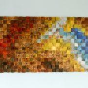 "Wood wall art, Rustic wall art ""The Northern Lights"" 24"" x 55"""