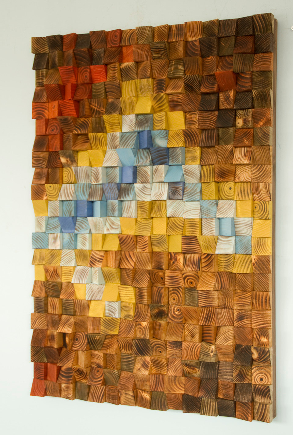"Wood wall art, Rustic wall art ""The Northern Lights"" 36"" x 24"""