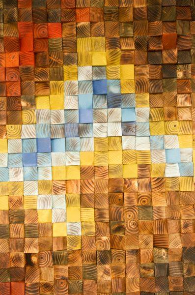"Wood wall art, Rustic wall art ""The Northern Lights"" 36"" x 24"""
