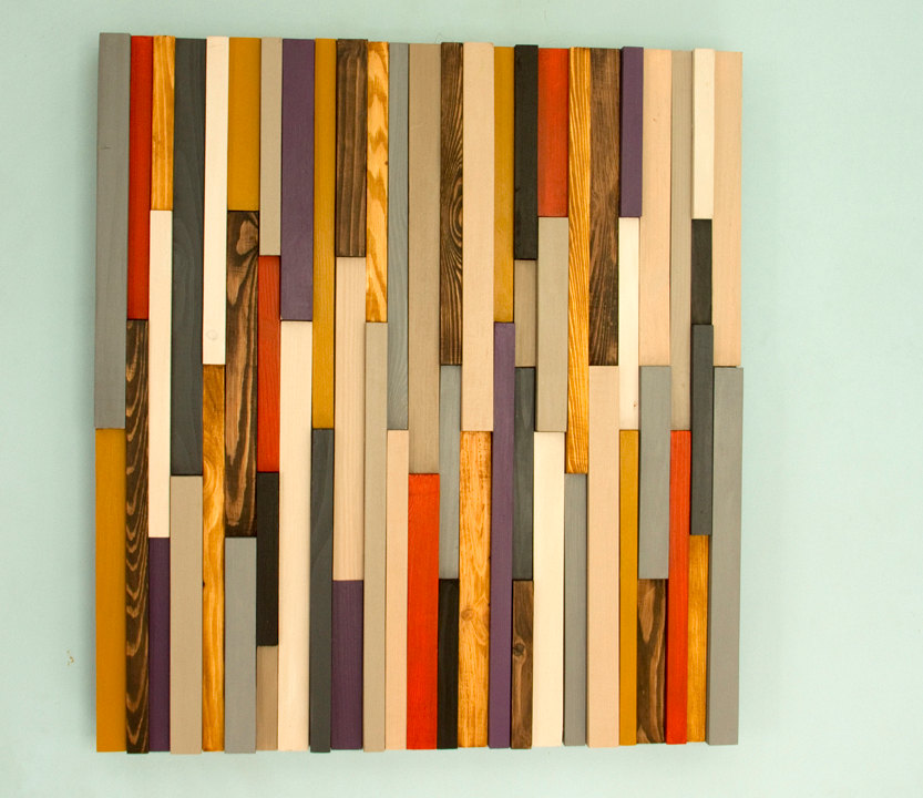 Wood wall art sculpture 3d abstract wood sculpture Reclaimed wood wall art for sale