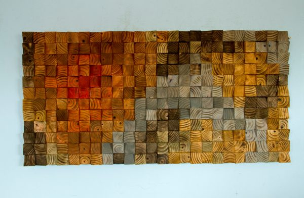 Wood wall Art, wood sculpture mosaic, geometric art