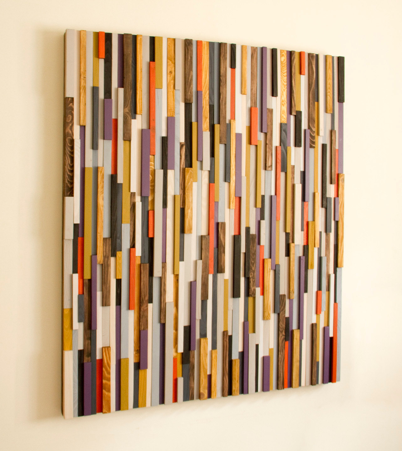 wood awesome geometric art decor lath barnwood of pattern wall reclaimed