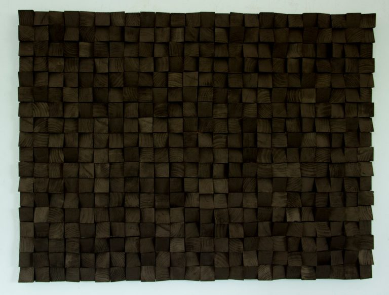 Large Wood wall Art, monochromatic black art, geometric wooden art