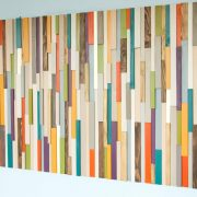 Mid Century Headboard, Reclaimed wood furniture, modern bedroom, 2016 trends