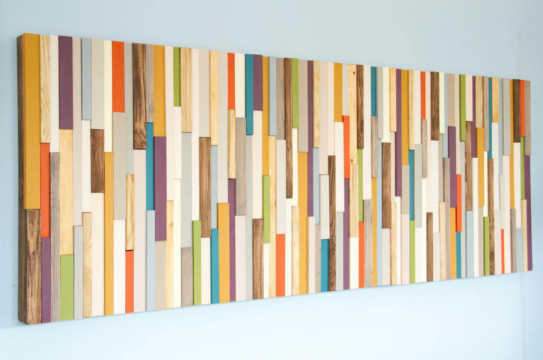 Mid Century Wall Art Reclaimed Wood Art Sculpture