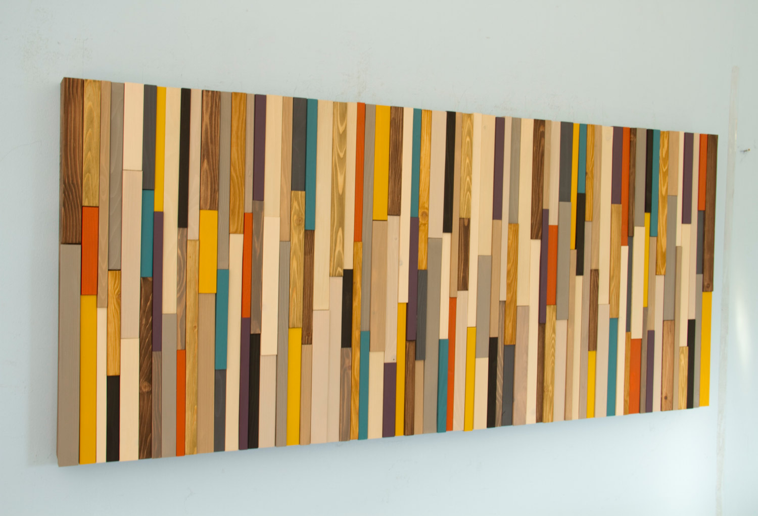 Wood wall art sculpture skinny wood pieces featured on Reclaimed wood wall art for sale
