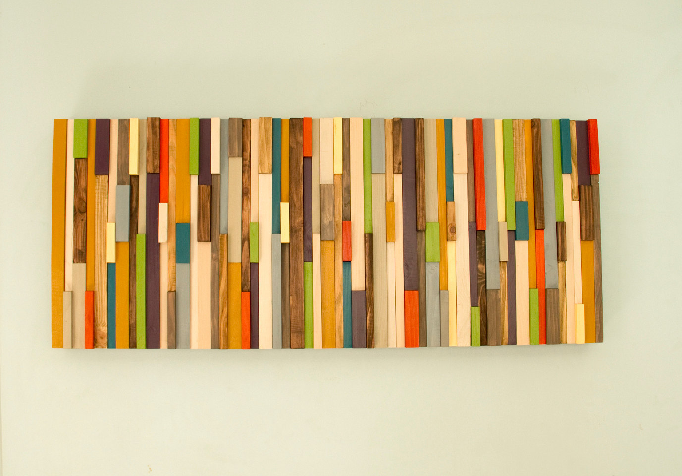 Mid Century wall art, reclaimed wood art sculpture, SALE painted ...