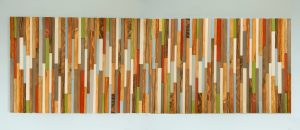"Modern Headboard Reclaimed Wood Furniture, earth tones, green, blue, copper, 30"" x 90"""