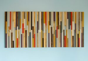 "Modern Headboard Wood Wall Art Sculpture, king headboard 30"" x 70"""