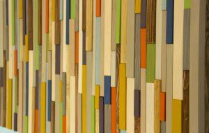 """Modern wood art, Mid century wood wall art, new sculpture 2017 colour trends, 20"""" x 40"""""""