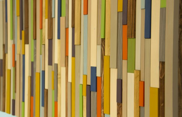 "Modern wood art, Mid century wood wall art, new sculpture 2017 colour trends, 20"" x 40"""