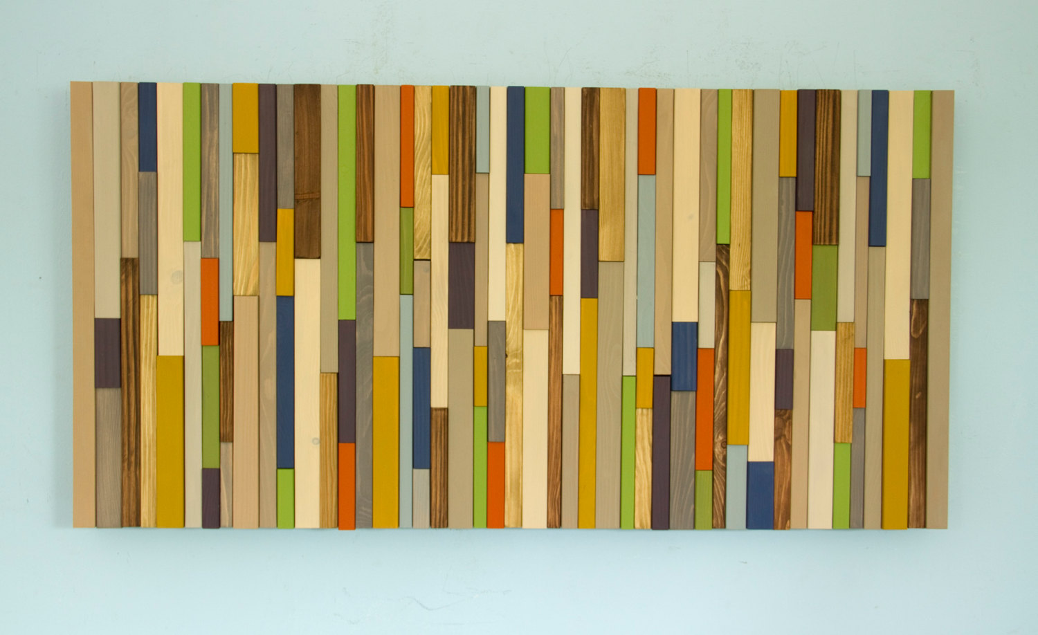 Modern wood art, Mid century wood wall art, new sculpture 2017 colour trends