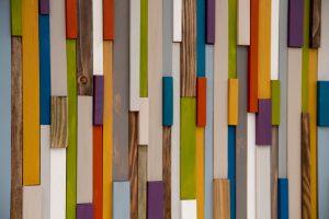 """Modern Wood Art Sculpture 3D reclaimed wood 2015 colour trends 16"""" x 24"""""""