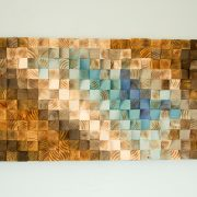 Modern Wood wall Art, wood mosaic, geometric art