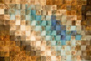 Modern Wood wall Art, wood mosaic, geometric art, wood decor