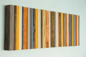 Reclaimed Wood Art, Modern office decor, reclaimed wood wall art sculpture, costomize