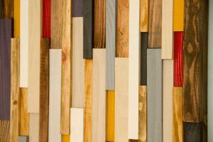 Reclaimed Wood art, modern wood art 3D, set of 2
