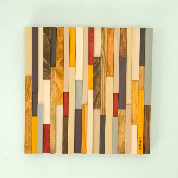 "Reclaimed Wood art, reclaimed wood wall art 3D, modern, 20"" x 20"""