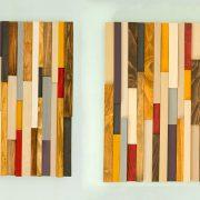 """Reclaimed Wood art, reclaimed wood wall art 3D, modern, 20"""" x 20"""""""