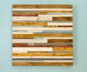 "Reclaimed Wood wall Art, Industrial wall Art reclaimed wood sculpture 24""x 24"""