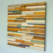 Reclaimed Wood wall Art, Industrial wall Art rustic wood art sculpture