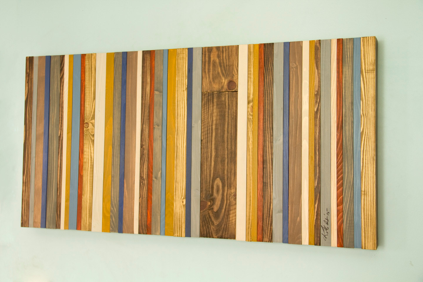 Reclaimed wood wall art rustic wood decor modern wood for Modern contemporary decor
