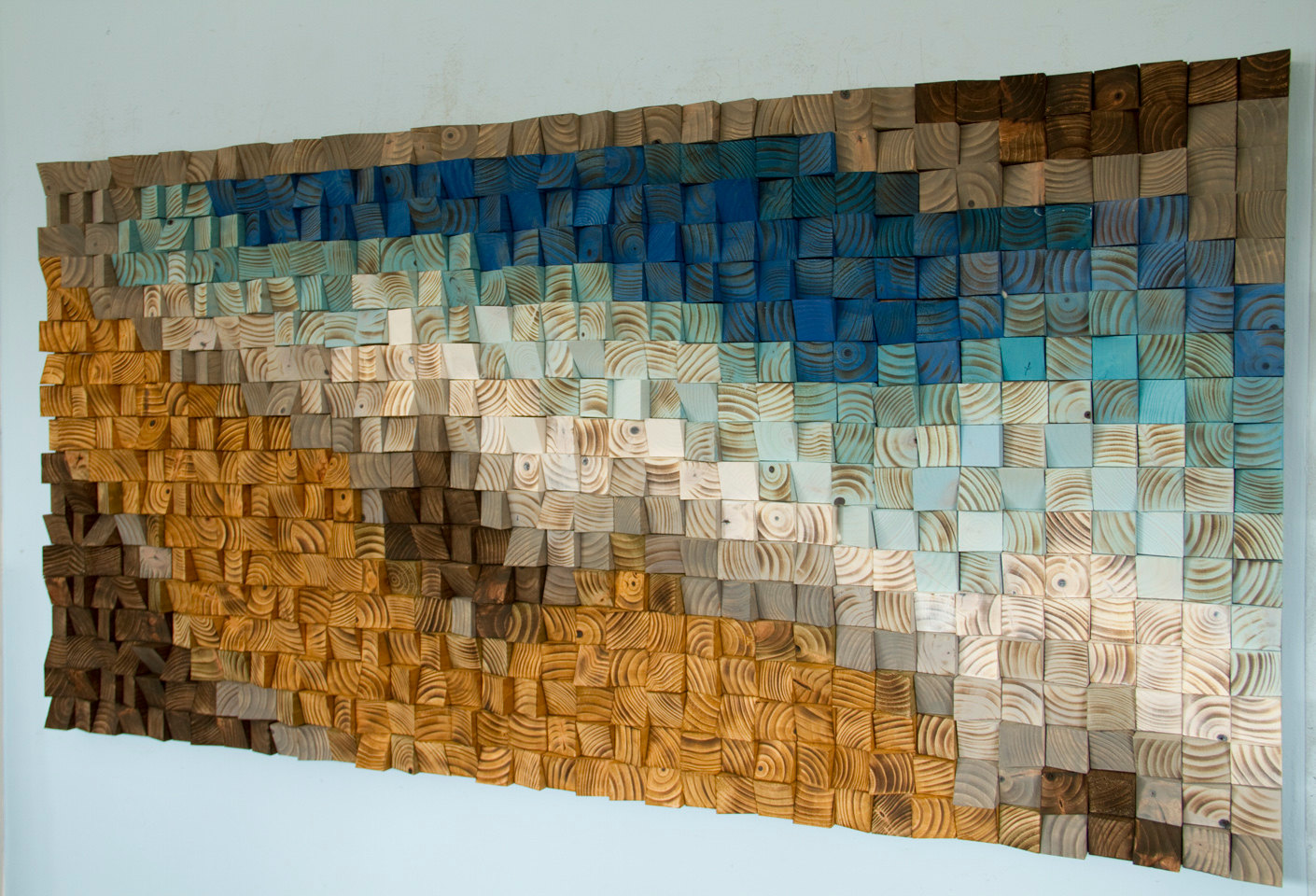 Reclaimed wood wall art wood mosaic geometric art wood Reclaimed wood wall art for sale