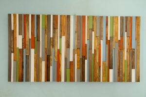 "Rustic Wall Art, reclaimed wood art 20"" x 40"", earth tones"