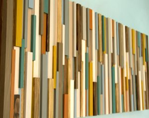 "Rustic Wall Art, reclaimed wood art 20"" x 50"", natural"