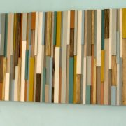 "Rustic Wall Art, reclaimed wood art 20"" x 50"", natural"