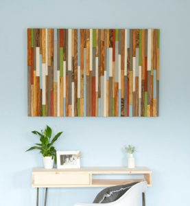 "Rustic Wall Art, reclaimed wood wall art 30"" x 45"", earth tones"